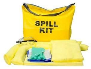 liquid absorbing spill kits